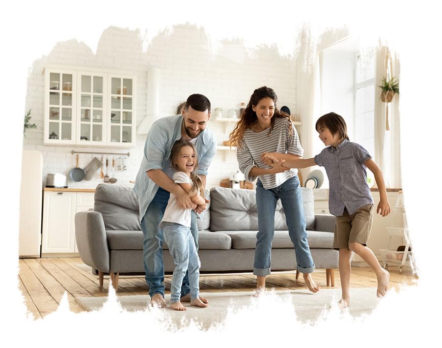 Schadstoffarmes Wohnen für die glückliche Familie